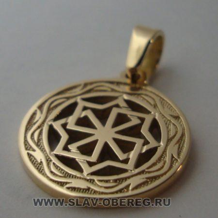 Молвинец со Славянским узором из золота