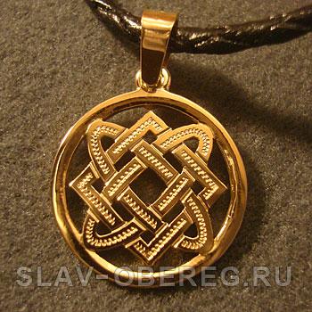 Звезда Лады богородицы в круге Славянский оберег из золота