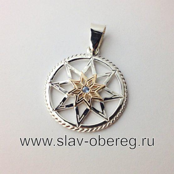 Славянский оберег Алатырь Щит