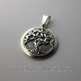 Древо Мироздания серебро оберег