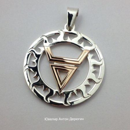 Славянские обереги серебро с золотом