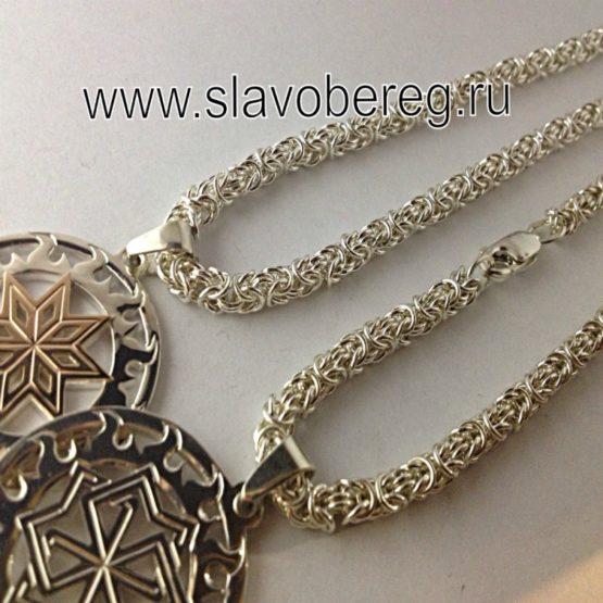 Цепочки из серебра Византийское плетение