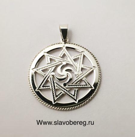 Символ Рода из серебра в звезде Инглии