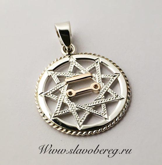 Чертог щуки серебро с золотом
