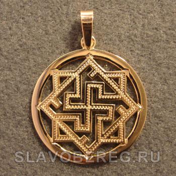 Валькирия в Круге Славянский оберег из золота