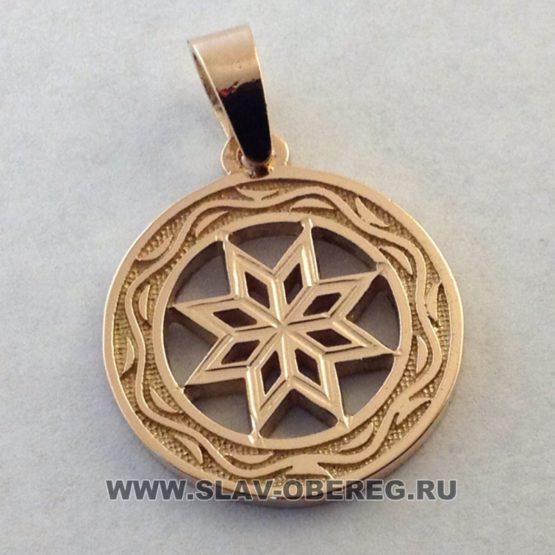 Алатырь со Славянским узором из золота