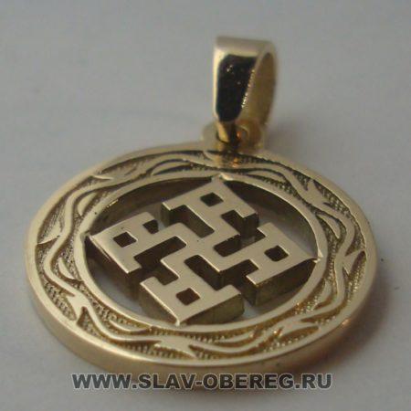 Духовная Сила со Славянским узором из золота