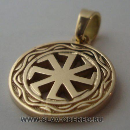 Коловрат со Славянским узором из золота