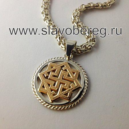 Валькирия серебро с золотой накладкой