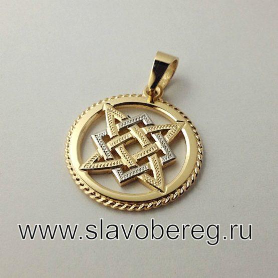 Звезда Руси из золота и родия