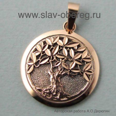 Кулон Дерево из золота