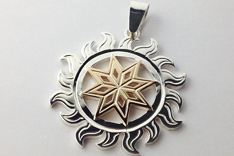 Алатырь серебро с золотом