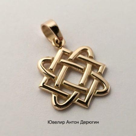 Звезда Лады Богородицы славянский оберег из золота
