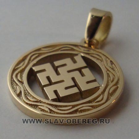 Одолень Трава со Славянским узором из золота