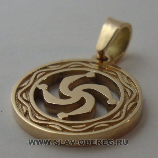 Символ Рода со Славянским узором из золота