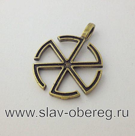 Двухсторонний оберег Грозовик Громовник из бронзы
