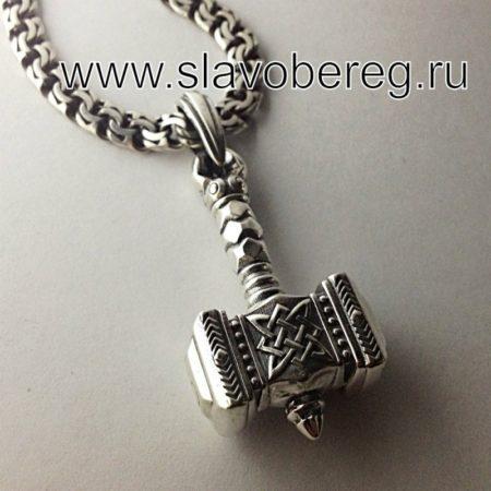 Молот Сварога оберег из серебра