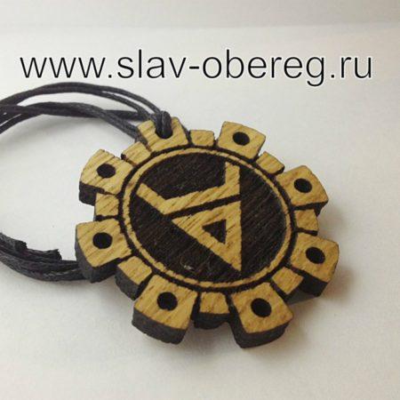 Символ Велеса из дерева