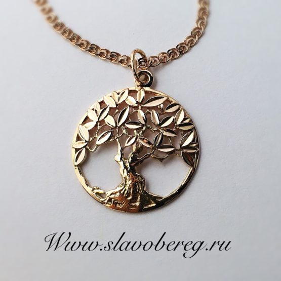 Кулон Древо из золота