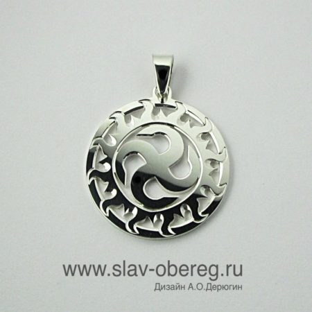 Славянский Оберег Сваор Солнцеврат в Солнечном круге