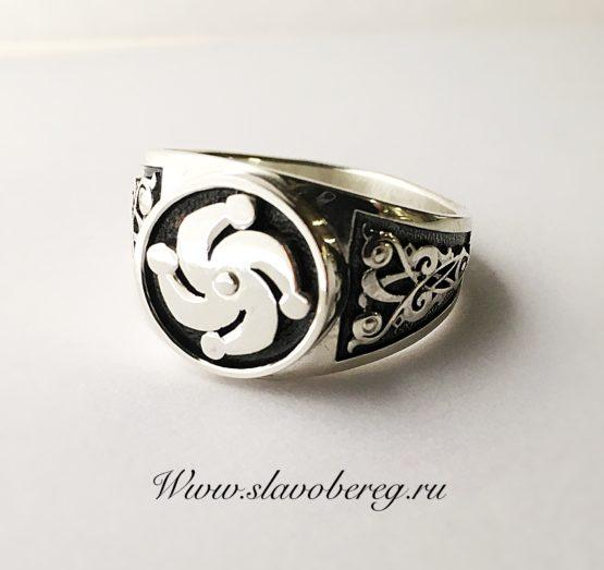 Мужской перстень с древнерусским знаком , символом языческого Божества Род.