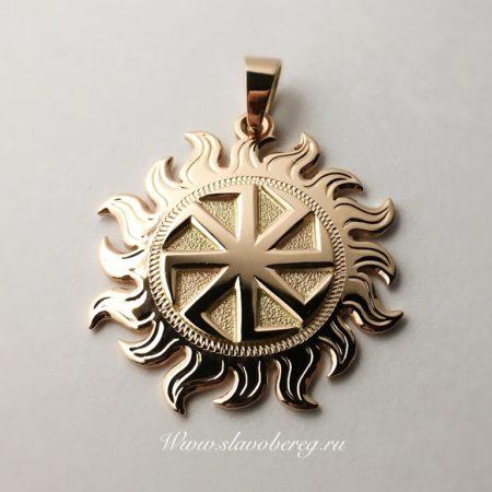 Славянский коловрат из золота