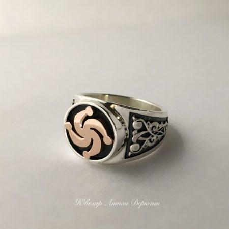 Перстень со славянским оберегом